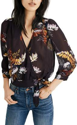 Madewell Blooming Oasis Wrap Top