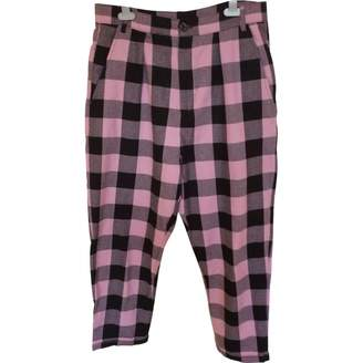 Lazy Oaf Multicolour Cotton Trousers for Women