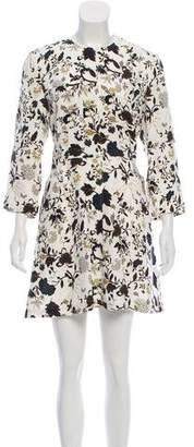 A.L.C. Floral Print Silk Dress
