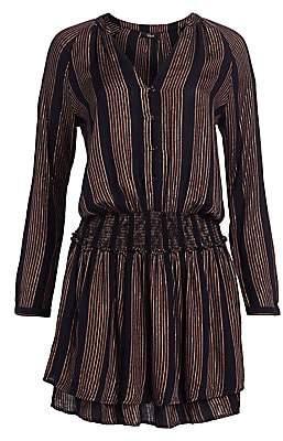 Rails Women's Jasmine Metallic Striped Blouson Dress