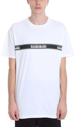 Napapijri Sagar White Cotton T-shirt