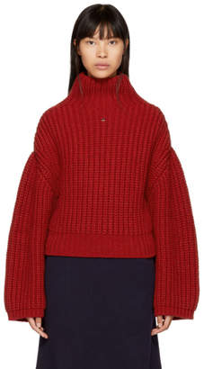 Lanvin Red Chunky Turtleneck