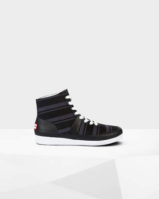 Hunter Men's Original Garden Stripe Hi Top Sneakers