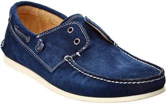 John Varvatos . Suede Boat Shoe