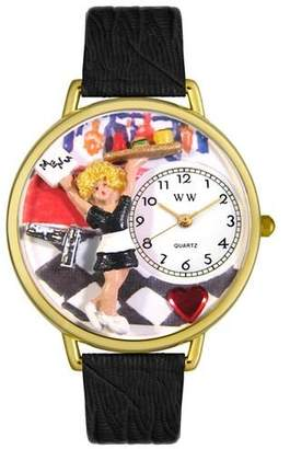 Whimsical Watches Unisex G0630004 Waitress Black Skin Leather Watch