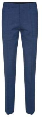 BOSS Hugo Wool Patterned Dress Pant, Slim Fit Genesis 38R Blue