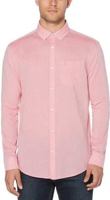 Original Penguin Linen Feeder Stripe Classic Fit Shirt