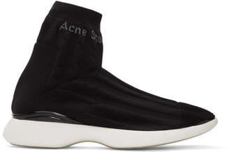 Acne Studios Black Tristan High-Top Sneakers