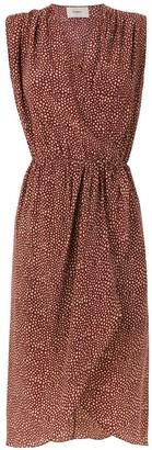 Egrey silk printed dress