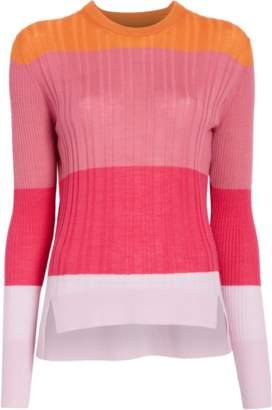 Tome Color Block Crew Neck Sweater