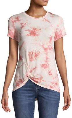 COMO BLU Como Blu Short Sleeve Crew Neck Tie Dye T-Shirt-Womens