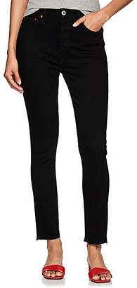 RE/DONE Women's High-Rise Ankle Crop Skinny Jeans - Black