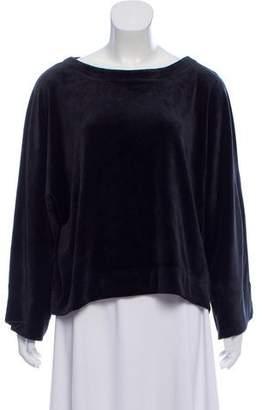 DKNY Long Sleeve Velour Top