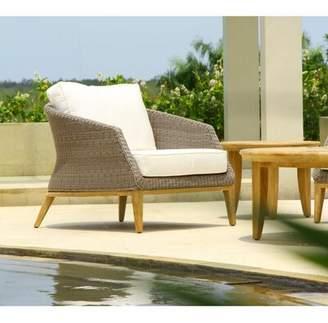 Wrought Studio Hanover Deep Seating Teak Patio Chair with Sunbrella Cushions Wrought Studio