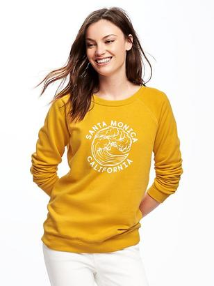 Relaxed French-Terry Sweatshirt for Women $20 thestylecure.com