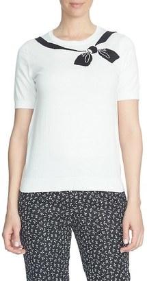 CeCe Intarsia Bow Cotton Pullover $79 thestylecure.com