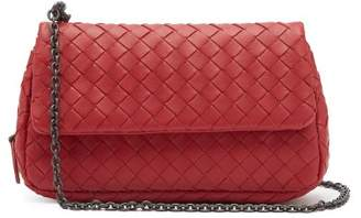 Bottega Veneta Intrecciato Leather Mini Cross Body Bag - Womens - Red
