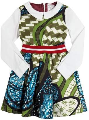 Stella Jean Printed Cotton Gabardine & Poplin Dress