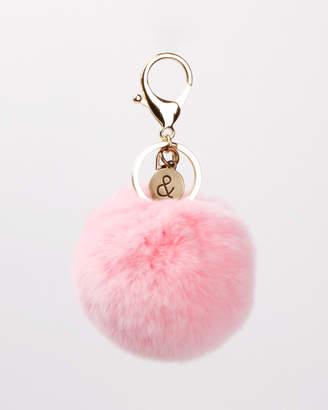 Faux Fur Pom Pom Key Ring