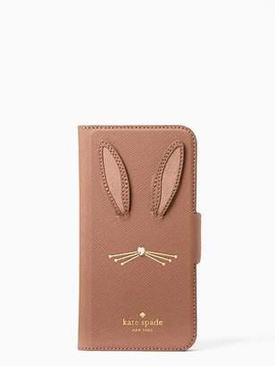 Kate Spade Rabbit applique iphone 7 & 8 folio case