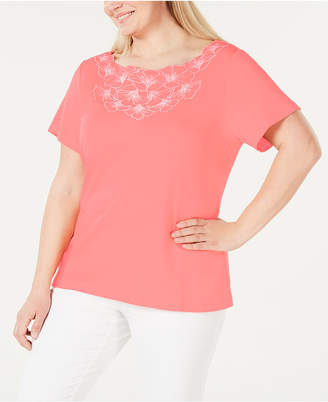 Karen Scott Plus Size Floral T-Shirt