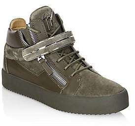Giuseppe Zanotti Men's Leather High-Top Sneakers