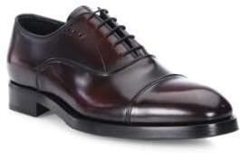 Prada Cordovan Cap Toe Dress Shoes