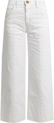 CURRENT/ELLIOTT The Wide Leg Crop high-rise jeans $251 thestylecure.com