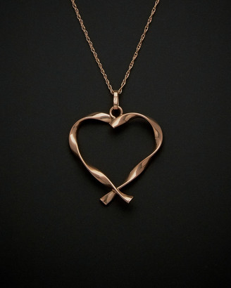 Twisted Heart 14K Italian Rose Gold Necklace