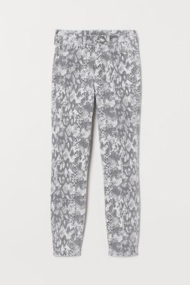H&M Super Skinny High Ankle Jeans - Beige