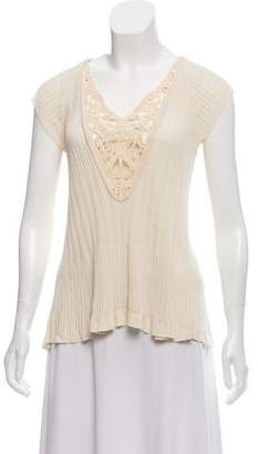 Christian Lacroix Cap Sleeve Knit Top