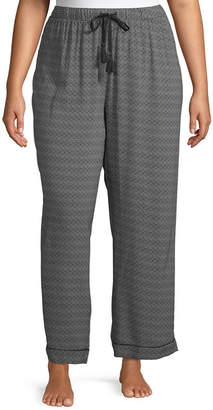 Ambrielle Womens-Plus Poplin Pajama Pants