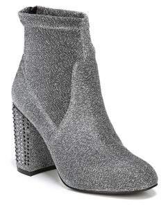 Fergie Textured Lurex Embellished Booties