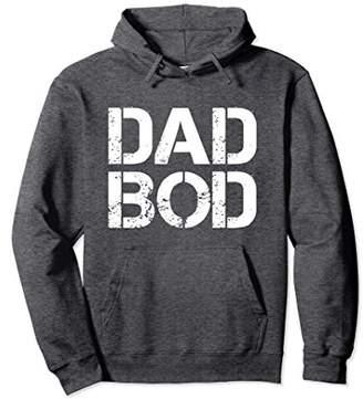Dad Bod Rough Strong 90s Stencil Text Hoodie (Dark)