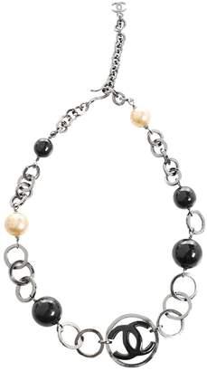 Chanel Vintage Grey / Black Pearls Necklace
