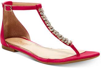 Badgley Mischka Gaby Flat Evening Sandals, Created for Macy's