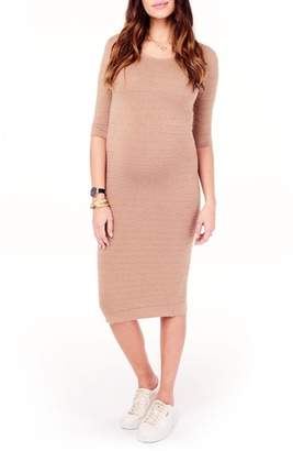Ingrid & Isabel R) Sweater Knit Maternity Sheath Dress