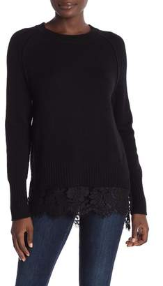 Brochu Walker Crew Neck Wool & Cashmere Lace Looker