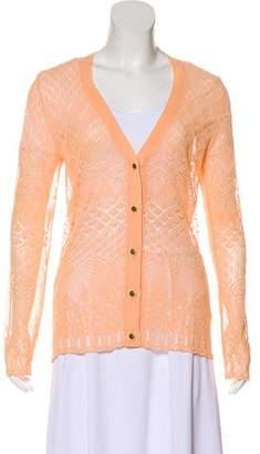 Proenza Schouler Long-Sleeve Lace Cardigan