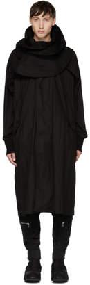 Julius Black Removable Hood Coat