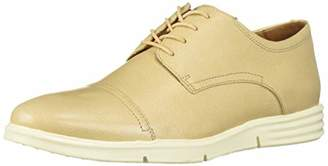 Driver Club USA Men's Leather Columbus Circle Light Weight Technology Cap Toe Oxford Laceup Sneaker