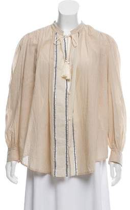 Giada Forte Long Sleeve Button-Up Oversize Top