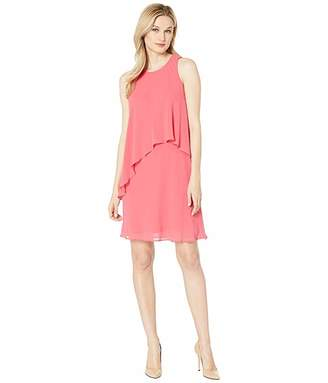 Lauren Ralph Lauren 56S Classic Solid Georgette Lonia Sleeveless Day Dress