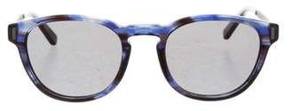 Calvin Klein Collection Rounded Tinted Sunglasses