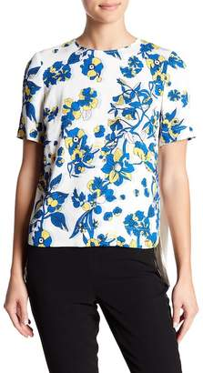 Ted Baker Floral Printed Front Pleated Blouse