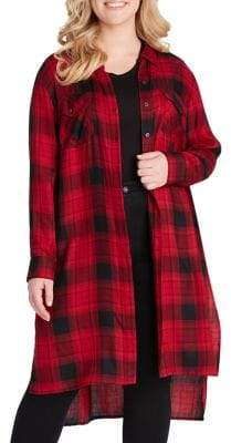 Jessica Simpson Plaid Pixel Shirt