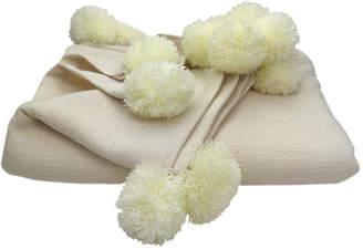 Slate + Salt Turkish Pom-Pom Throw Blanket