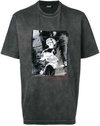 Diesel statue print T-shirt