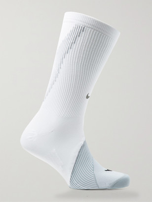 Nike Running - Spark Cushioned Dri-FIT Crew Socks - Men - White