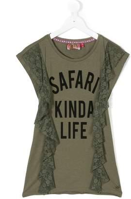 Vingino TEEN Safari Kinda Life lace trim top